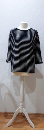 Minimum T-shirt rayé blanc-noir