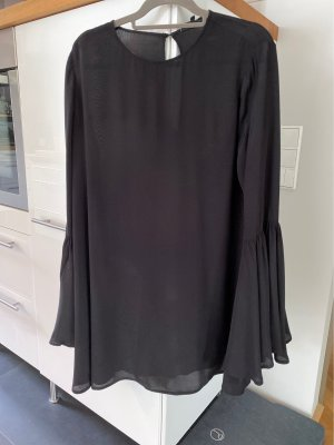 Tigha Mini Dress black-cream viscose
