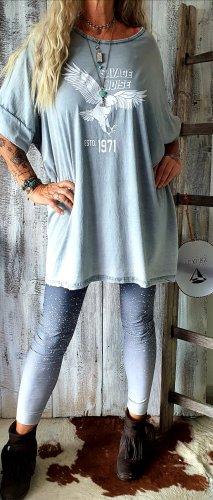 code Ibiza Oversized Shirt light grey-grey cotton