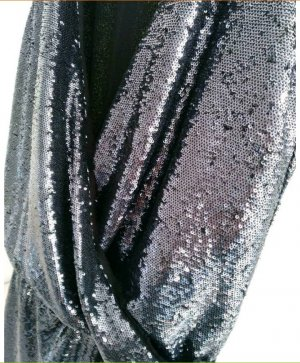 Promod Sequin Dress silver-colored