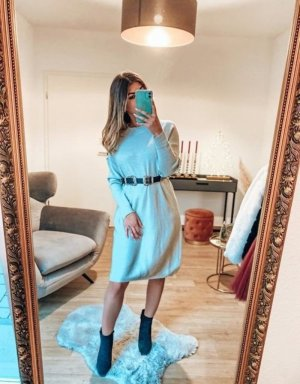 Boutique Comtesse Robe pull gris clair