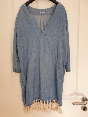 lässiges Rails Jeanskleid mit Ziertrotteln