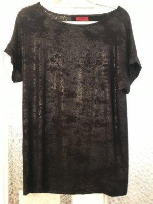 Lässiges schwarzglänzendes Shirt von HUGO