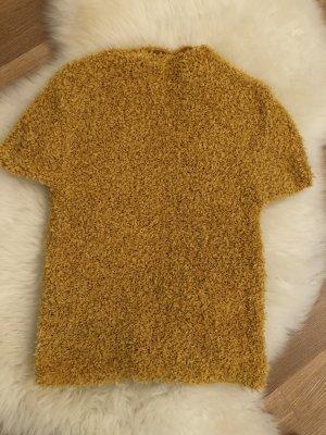Zara Gehaakt shirt goud Oranje