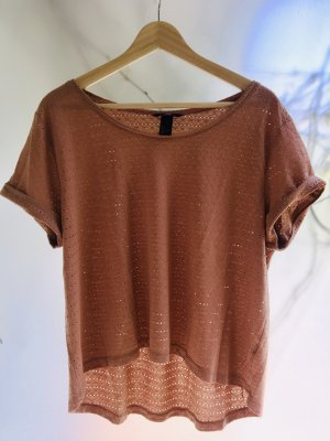 H&M Top extra-large marron clair