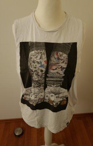 Brave Soul Koszulka z nadrukiem biały