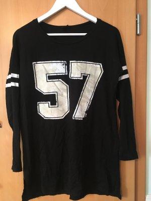 GinaTricot Sukienka o kroju koszulki czarny-biały