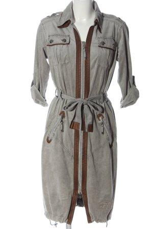 Sportalm Geklede jurk lichtgrijs-bruin Polyester