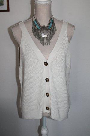 H&M Haut tricotés blanc cassé