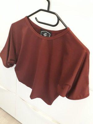 Crop-top violet polyester