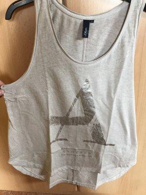 s.Oliver Camiseta sin mangas color plata-beige claro