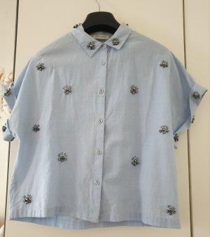 lässiges Zara Hemd mit Steinapplikationen