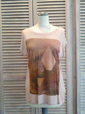 Lässiges zartrosé Shirt mit Print