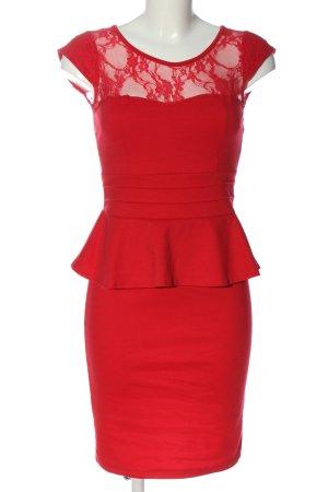 Laeticia Dreams Robe péplum rouge torsades style décontracté