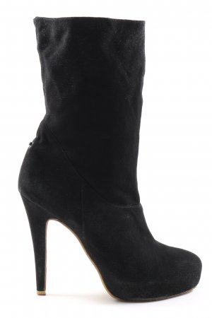 Laetitia klein Wciągane buty za kostkę czarny W stylu biznesowym