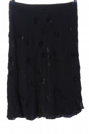 Lafayette 148 Rozkloszowana spódnica czarny Abstrakcyjny wzór W stylu casual