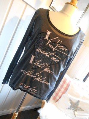 your & self Camisa de malla negro
