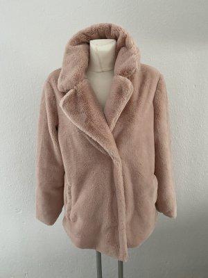 Lager 157 Plüschjacke Felljacke Fell Pelz Pelzjacke Fake Fur M Rosa leicht Jacke Mantel Zara