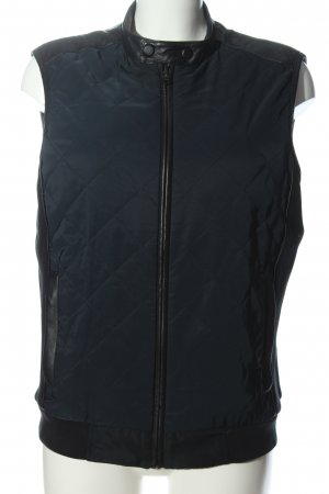 Lagerfeld Reversible Vest blue quilting pattern casual look