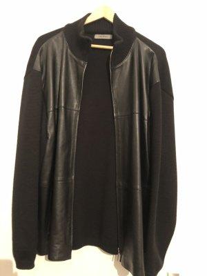 Lagerfeld Chaleco de cuero negro