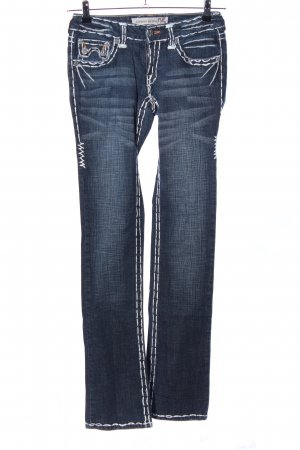 Laguna Beach Straight-Leg Jeans blau Casual-Look