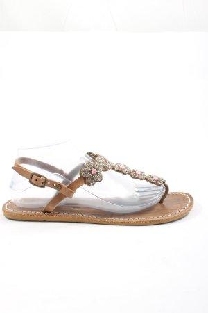 laidbacklondon Flip-Flop Sandals brown casual look