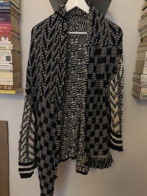 Lala Berlin Crochet Cardigan dark blue-white cotton
