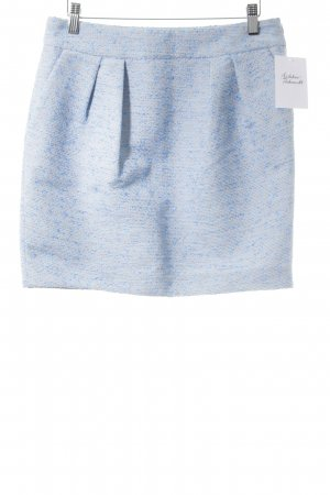 Lala Berlin Jupe à plis bleu azur-rose chair moucheté élégant