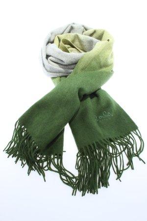 Lala Berlin Fransenschal hellgrau-grün Farbverlauf Casual-Look