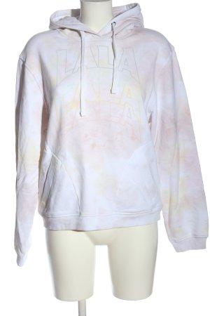 Lala Berlin Hooded Sweatshirt white printed lettering casual look