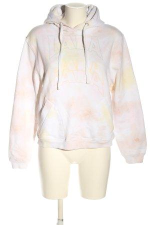 Lala Berlin Sweat à capuche blanc-crème lettrage imprimé style décontracté
