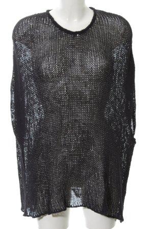 Lala Berlin Pull à manches courtes noir style transparent