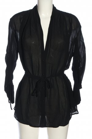 Lala Berlin Langarm-Bluse schwarz Street-Fashion-Look