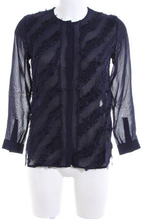 Lala Berlin Langarm-Bluse blau Elegant