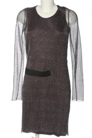 Lala Berlin Robe à manches longues gris clair-noir élégant