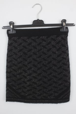 Lala Berlin Knitted Skirt black-silver-colored mixture fibre