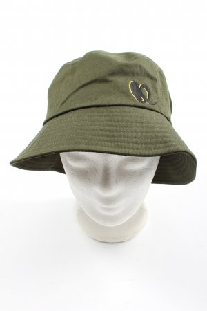 Lala Berlin Bucket Hat khaki embroidered lettering casual look