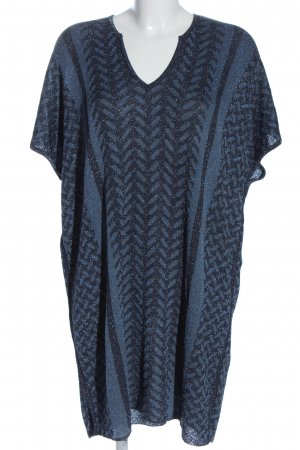 Lala Berlin Knitted Dress blue-light grey allover print casual look