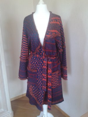 Lala Berlin Knitted Coat red-dark blue wool