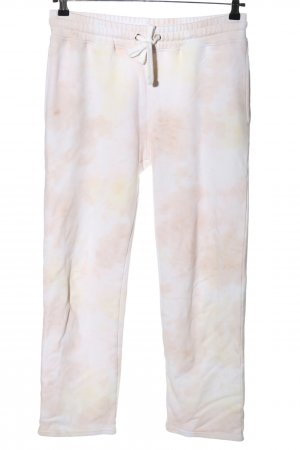 Lala Berlin Pantalon de jogging blanc-rose gradient de couleur