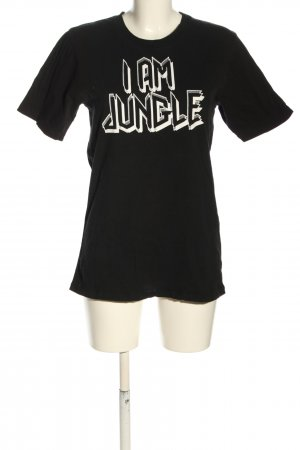 Lala Berlin T-Shirt schwarz-weiß Schriftzug gedruckt Casual-Look