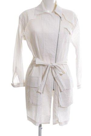 Lala Berlin Manteau mi-saison blanc cassé motif de courtepointe élégant