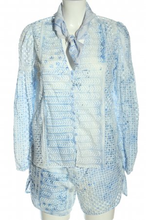 Lala Berlin Woven Twin Set blue-white color gradient casual look
