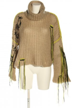 Lala Berlin Wollpullover Zopfmuster Casual-Look