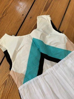 LaLesso Maxikleid aus Kapstadt UK8 Südafrikanisches Kleid in Weiß mit Muster