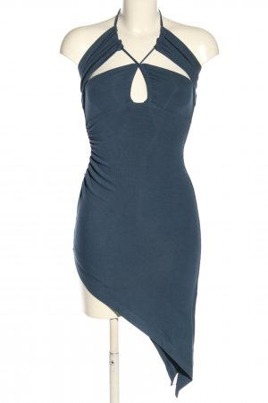 Lama Jouni Sukienka z dekoltem typu halter niebieski Elegancki