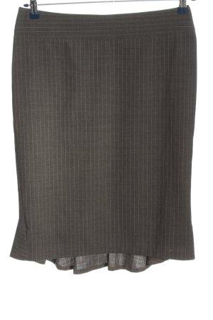 Lamarkine Jupe à volants gris clair motif rayé style d'affaires