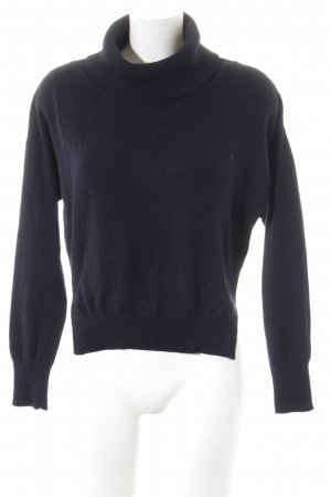 Lamberto Losani Turtleneck Sweater dark blue casual look
