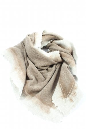 Lamberto Losani Shoulder Scarf brown-natural white flecked casual look