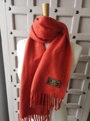 Wollen sjaal donker oranje